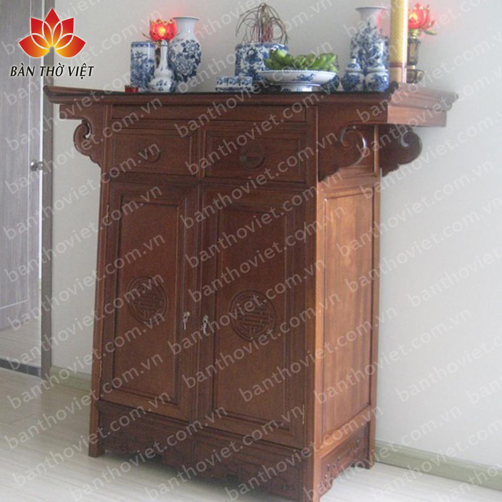 Một số mẫu tủ thờ gỗ Đồng Kỵ được chạm khắc tinh xảo