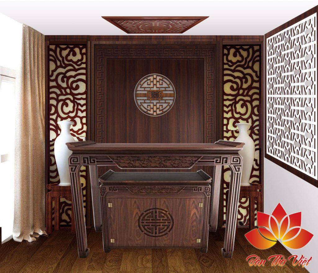 Những mẫu thiết kế tủ thờ phòng khách ấn tượng