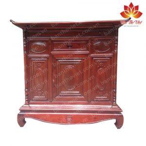 Mẫu tủ thờ Đê La Thành được thiết kế đơn giản mà đẹp