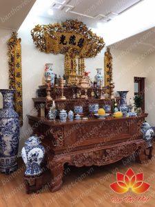 Mẫu sập thờ gỗ hương đẹp