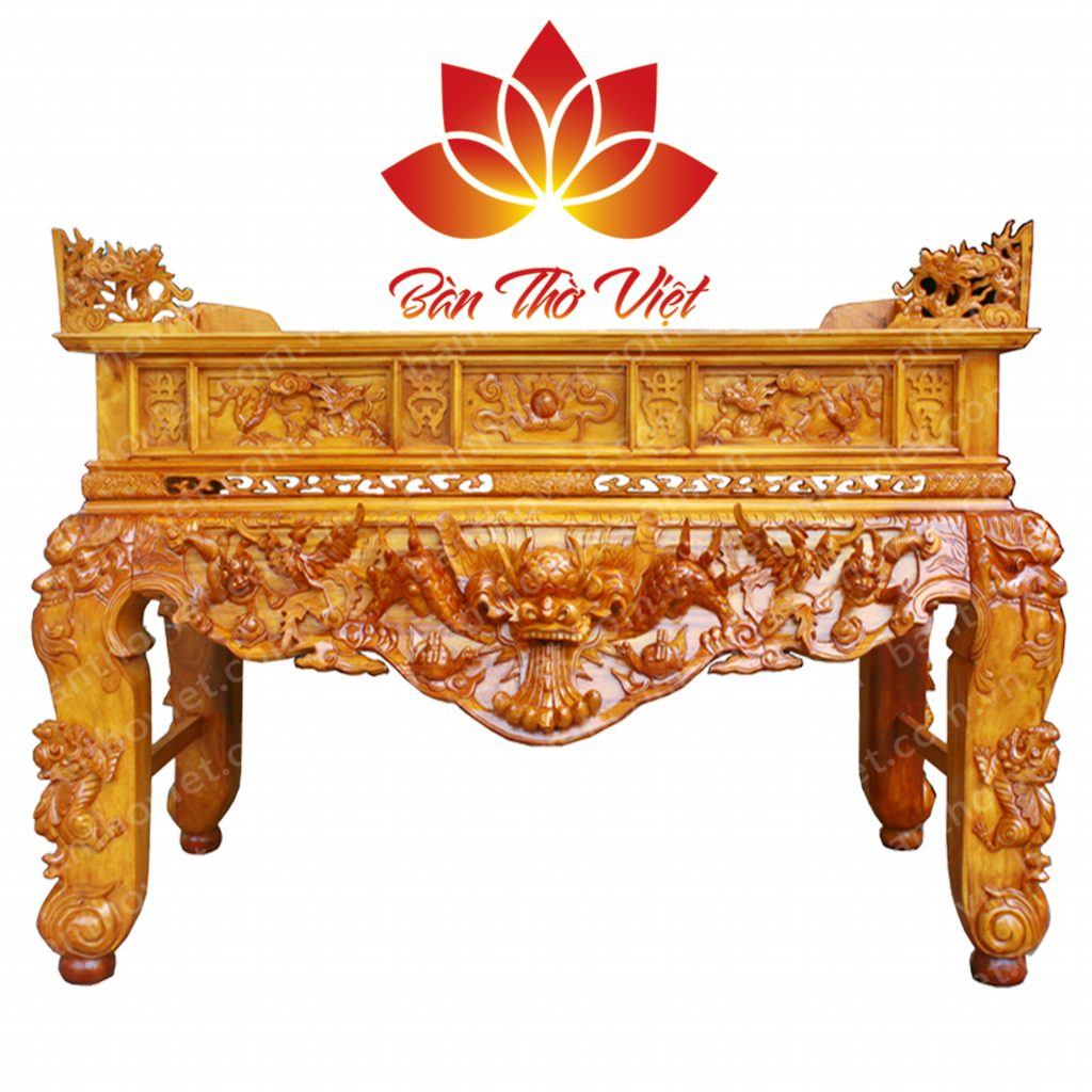 Một số mẫu bàn thờ kiểu cổ cho phòng thờ truyền thống
