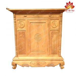 Tủ thờ hiện đại được làm bằng gỗ mít