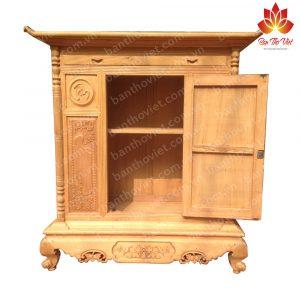 Mẫu tủ thờ gỗ xoan đào được thiết kế chuẩn thước Lỗ Ban