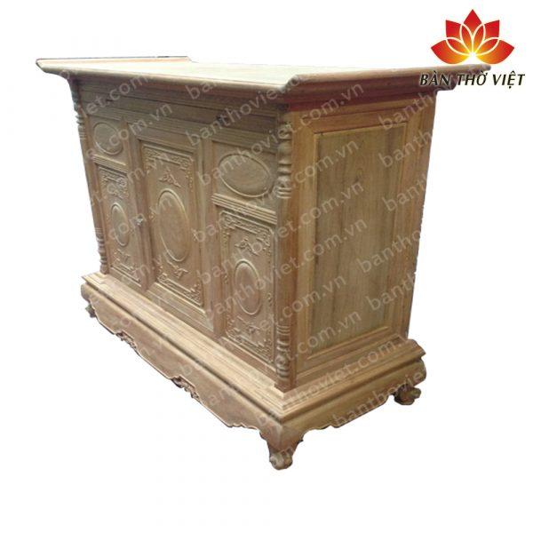 Mẫu tủ thờ gỗ dổi được chạm khắc tinh xảo