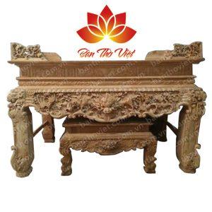 Sập thờ gỗ mít cho phòng thờ gia đình vô cùng sang trọng
