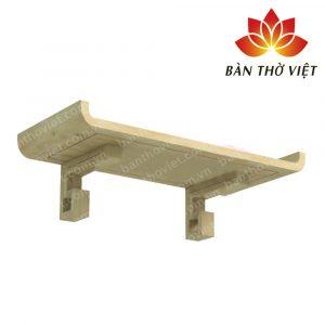 Mẫu bàn thờ treo tường gỗ sồi cao cấp