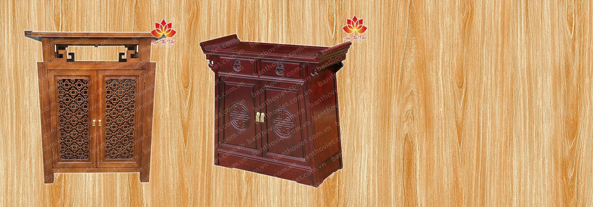 Mẫu tủ thờ chữ A được thiết kế theo phong cách hiện đại
