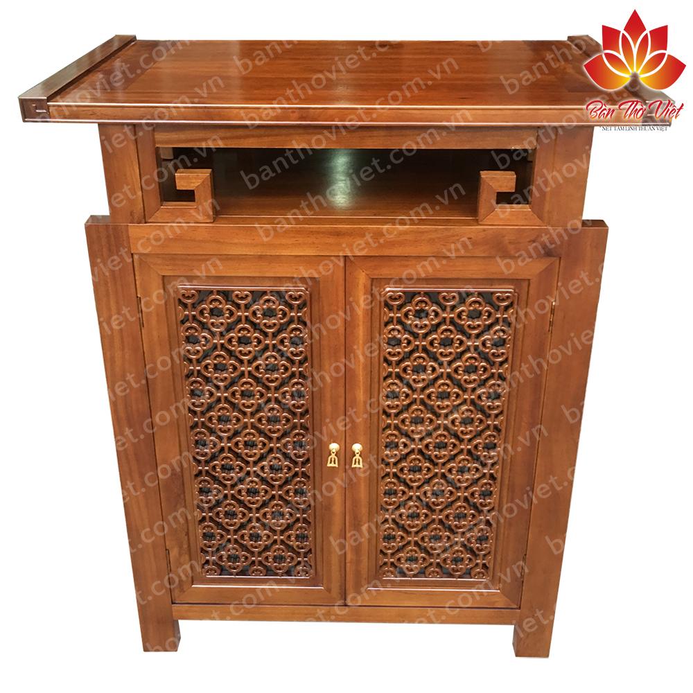 Tủ thờ cao cấp được làm bằng gỗ mít tại bàn thờ Việt