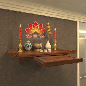 Một số mẫu bàn thờ treo tường cho chung cư hợp phong thủy