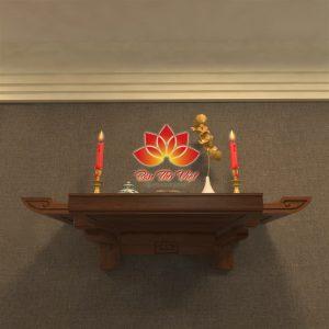 Mẫu bàn thờ treo tường chung cư siêu tiện lợi