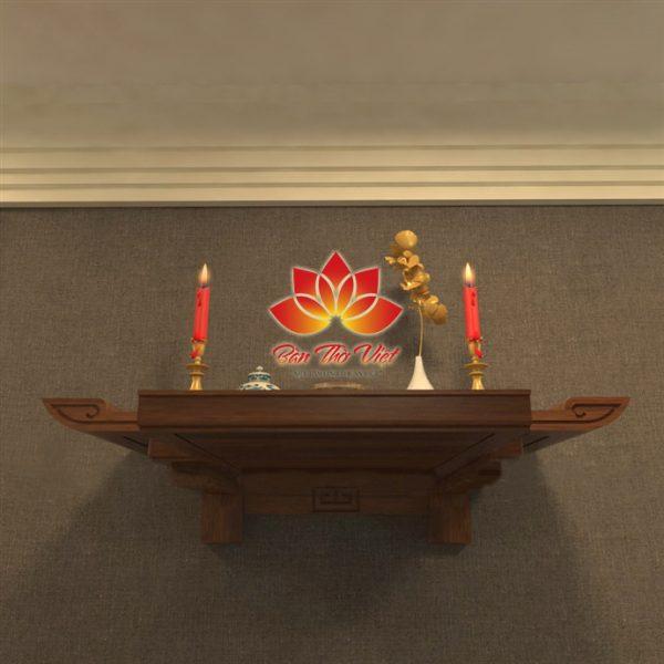 Những mẫu bàn thờ treo tường đẹp tại Gỗ Hoàng Gia
