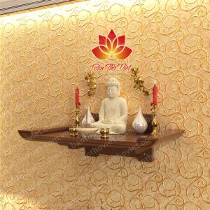 Mẫu bàn thờ Phật treo tường được nhiều gia đình sử dụng