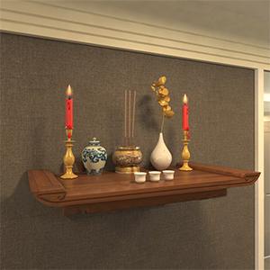 Mẫu bàn thờ Phật quan Âm treo tường được thiết kế chuẩn phong thủy