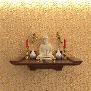 Vị trí đặt bàn thờ treo tường cho nhà tầng