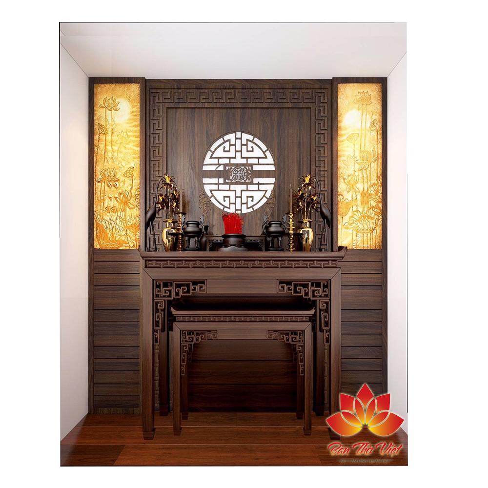 Tủ thờ hiện đại được làm bằng gỗ Hương
