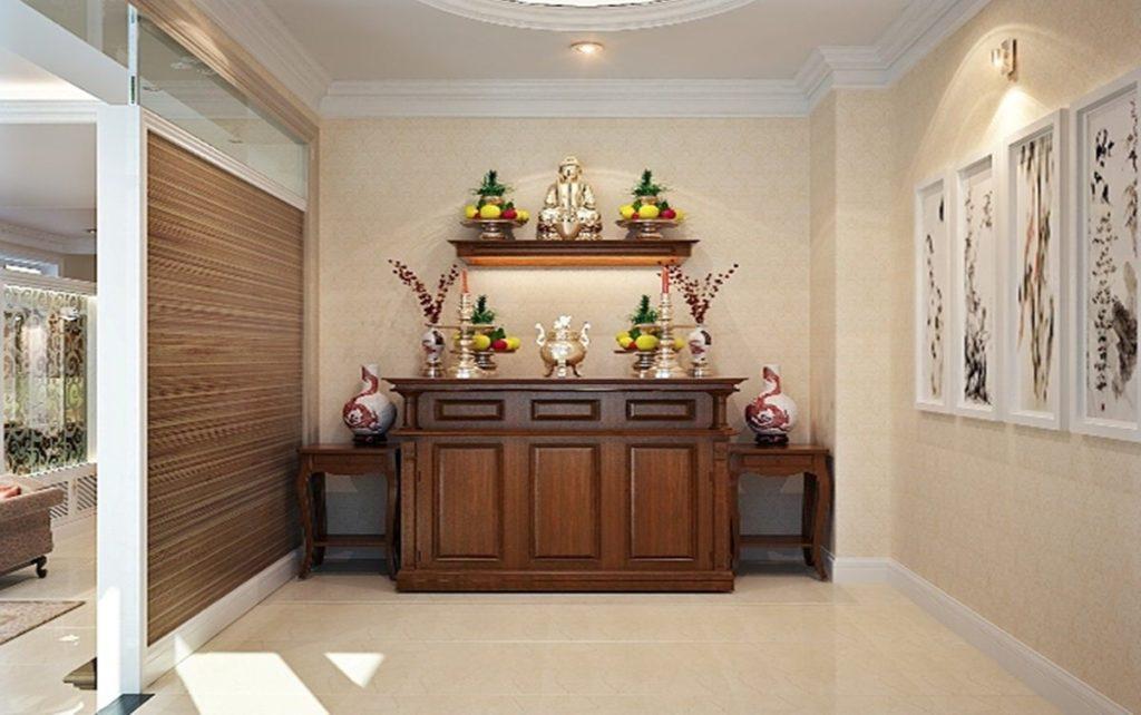 Những điều cần lưu ý khi đặt bàn thờ phòng khách để gặp may