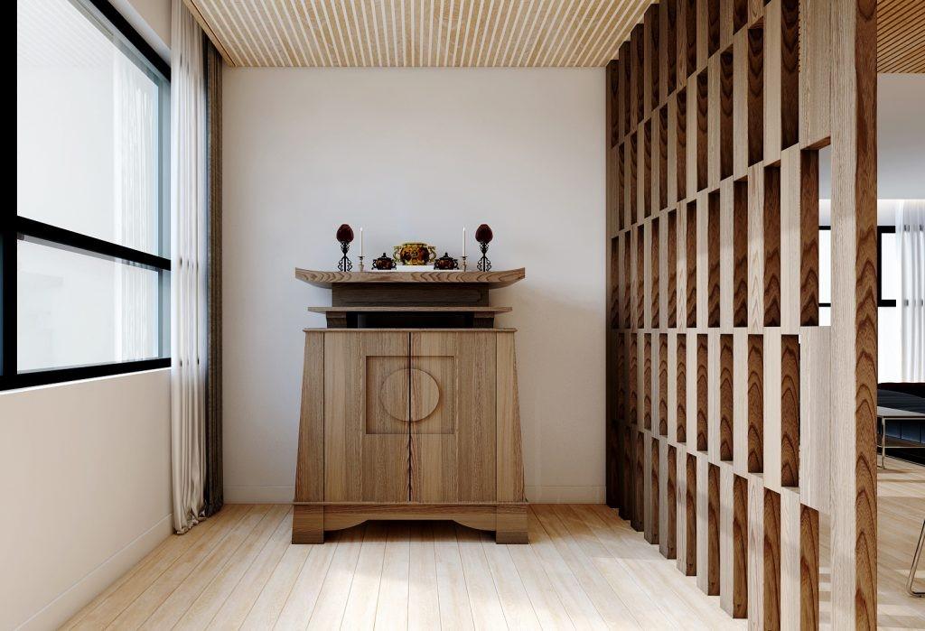 Các mẫu tủ thờ bằng gỗ Dổi đẹp được thiết kế chạm khắc tinh xảo
