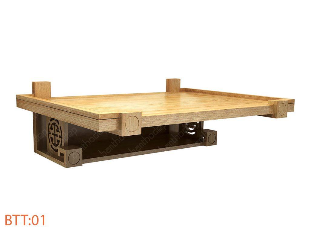 Các mẫu bàn thờ treo tường 2 tầng đẹp hợp phong thủy