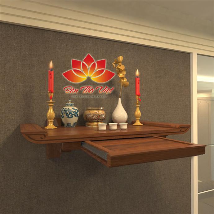 Bộ sưu tập các mẫu bàn thờ treo tường có ngăn kéo Đẹp nhất