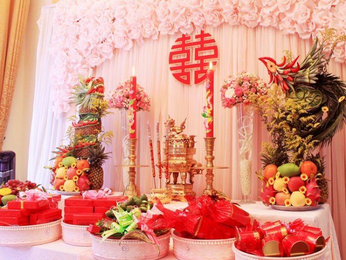 Cách trang trí bàn thờ tổ tiên ngày cưới chuẩn nhất