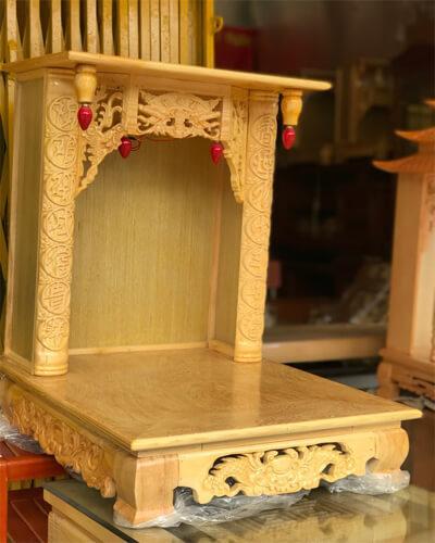 Một số mẫu thiết kế bàn thờ thần tài đơn giản, hợp phong thủy.