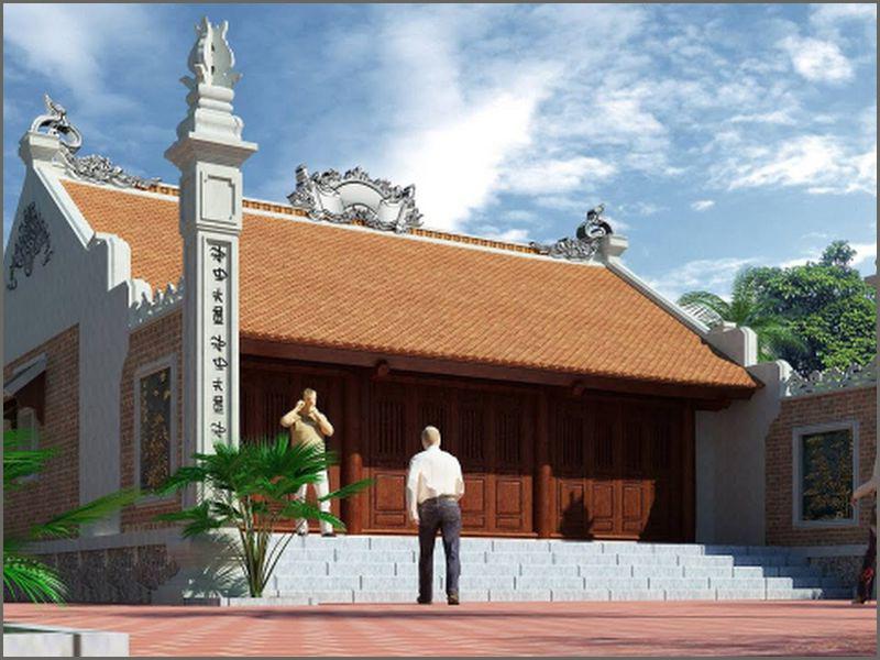 Mẫu nhà thờ đơn giản diện tích 150m2 – Mẫu nhà từ đường diện tích nhỏ