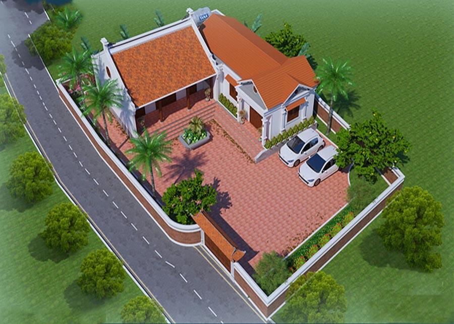 Mẫu thiết kế nhà thờ họ kết hợp nhà ở đẹp chuẩn phong thủy