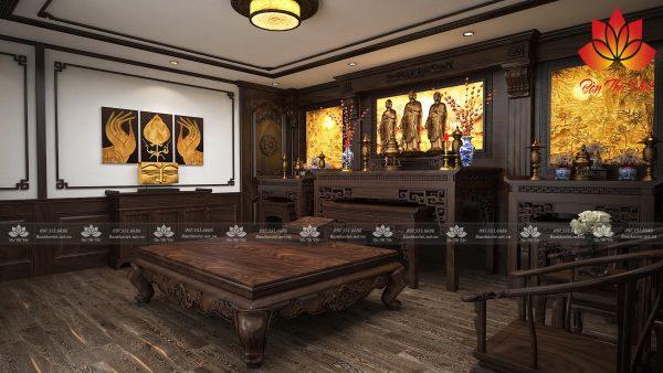 Tranh xuyên sáng phòng thờ Đức Phật